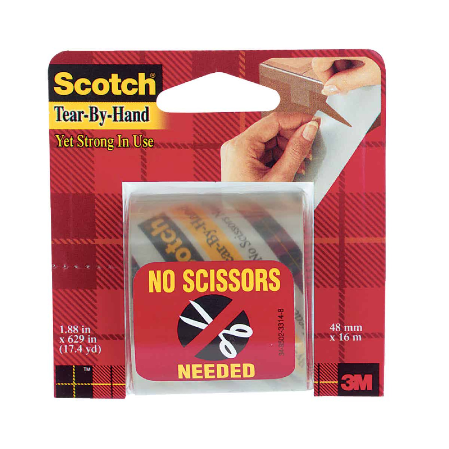 3M Scotch 2 In. X 17 Yd. Tear by Hand Tape Image 1
